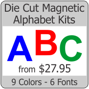 Die Cut Magnetic Letter Kits
